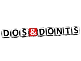 3D Dos And Donts Button Click Here Block Text